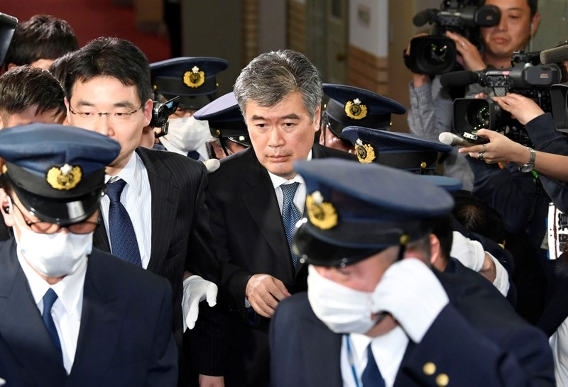 Top Japan official quits after harassment claims