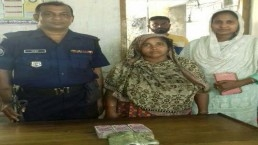 Woman held with 9 lakh Indian rupees
