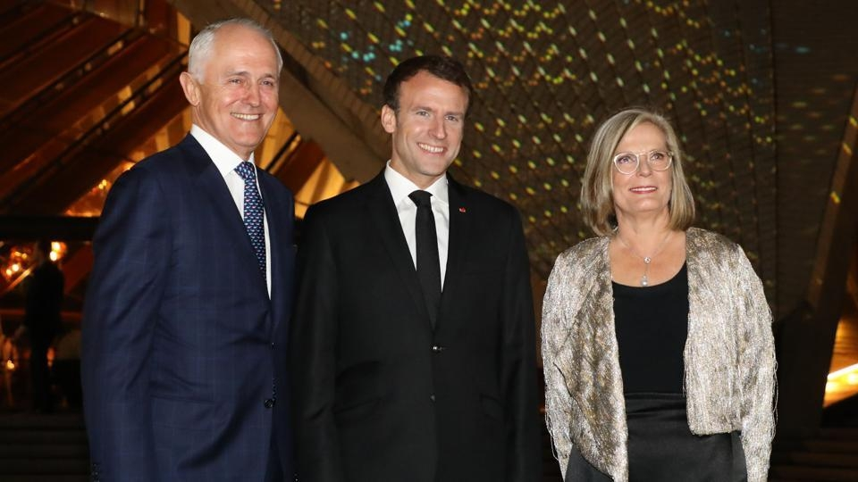 Faux pas: France's Macron says Aussie PM's wife 'delicious'