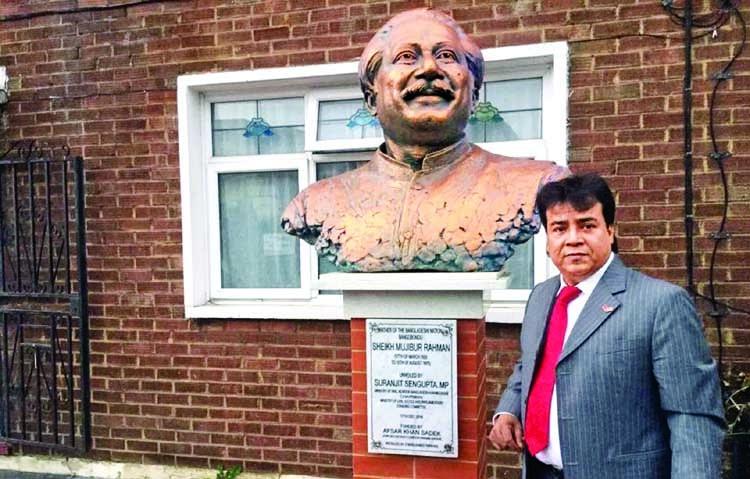 Bangabandhu's statue to remain in London