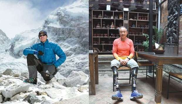Double amputee sets record in Everest summit