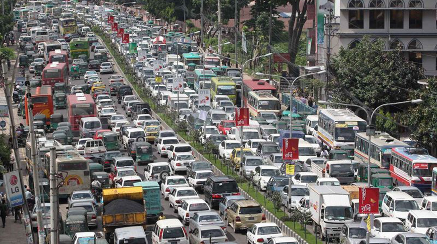 Traffic jam costs  Tk 370bn a year