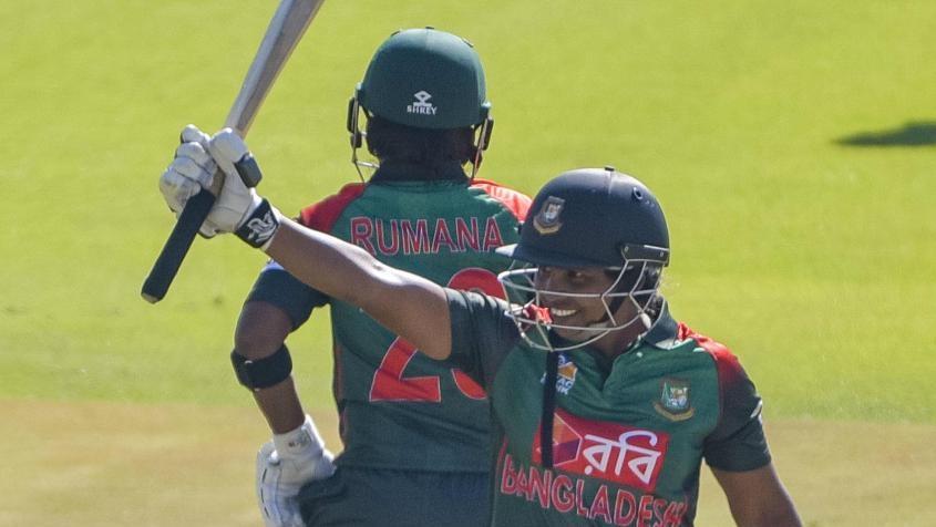 Shamima jumps 60 spots in T20I batswomen rankings