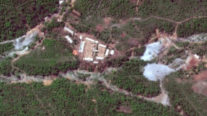 N Korea blows up nuke test site