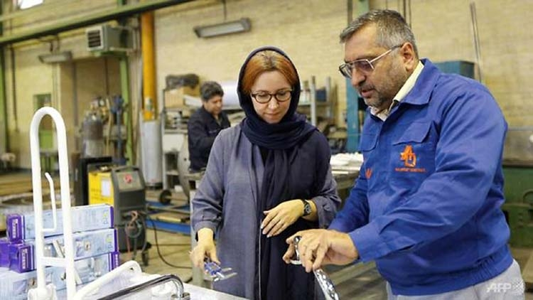 Iran's first female manufacturer, a victim of Trump