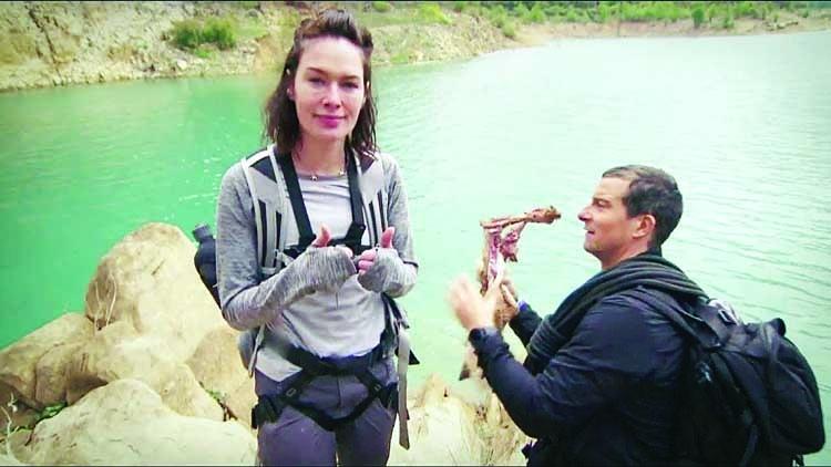 Grylls and Headey explore the Iberian Peninsula