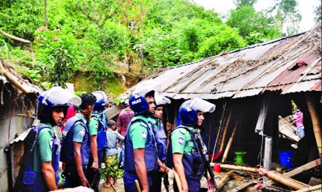 Eviction drive continues in Ctg hills