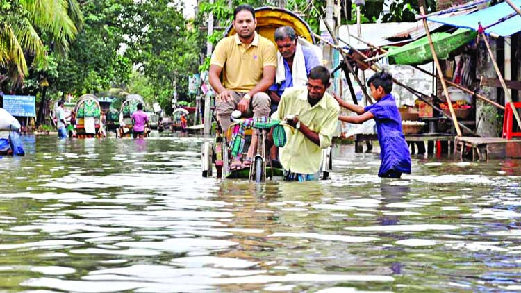 Rainfall disrupts city life in Chattogram