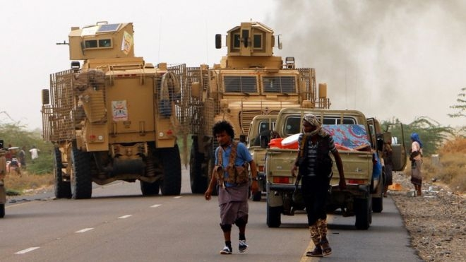 Fighting rages over vital port in Yemen