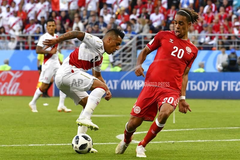 Schmeichel, Poulsen lead Denmark past Peru 1-0 at World Cup