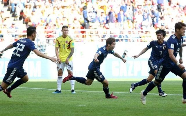 Japan jolt Colombia