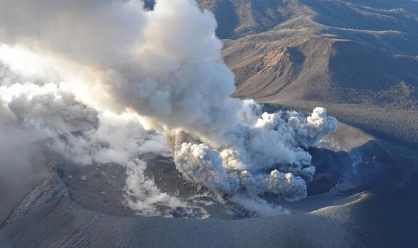 Mt. Shinmoe volcano in southwestern Japan erupts again