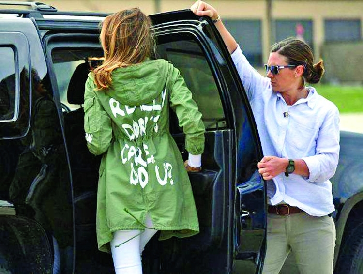 Melania's jacket raised questions!