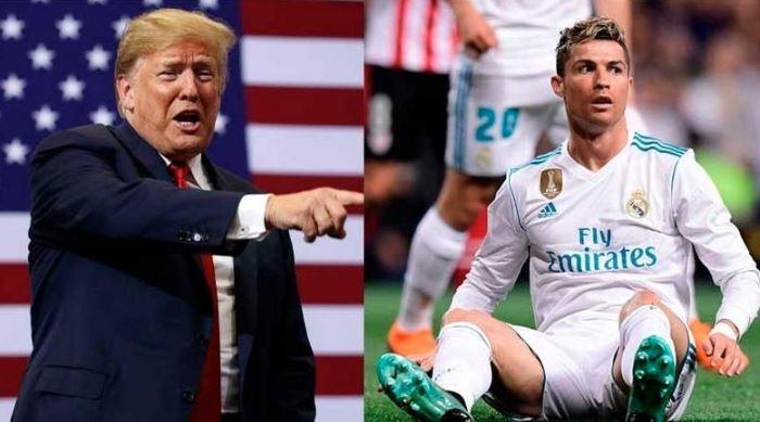 Trump's joke on Cristiano Ronaldo falls flat