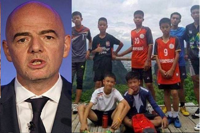FIFA invites trapped Thai boys  to WC Final in Russia