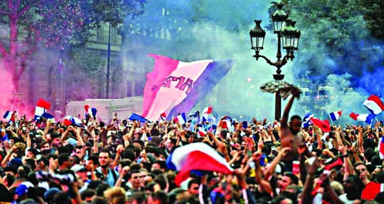 French World Cup celebrations turn rowdy