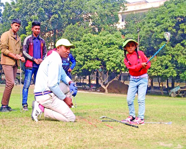 A certified B-category golf coach in Bangladesh