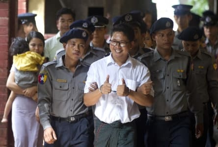 Myanmar court jails Reuters reporters for seven years
