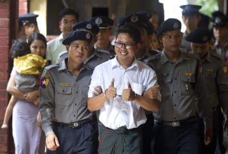 Myanmar court jails Reuters reporters for seven years