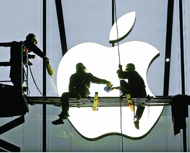 Apple supplier shares slide