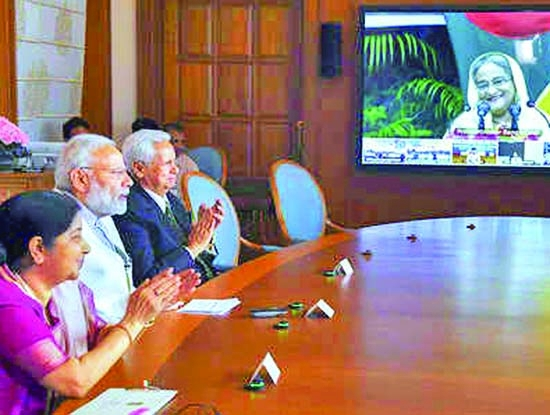 Hasina, Modi launch projects in Bangladesh via video link