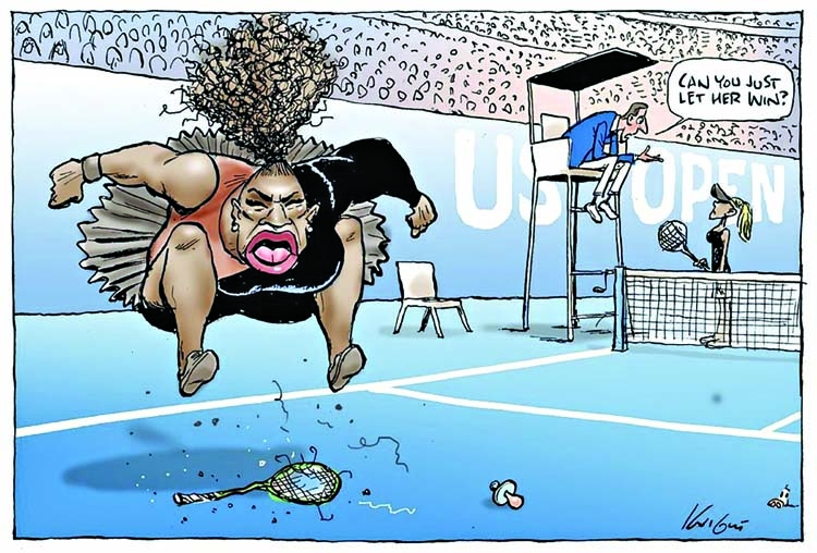 Australian cartoonist under fire for Serena sketch