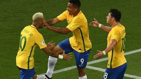 Neymar gets goal, yellow card for diving as Brazil romps 5-0
