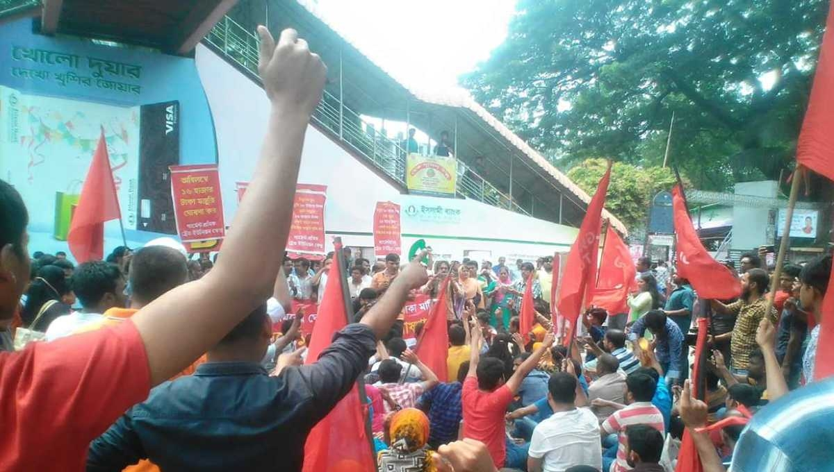 RMG workers reject Tk 8,000 as minimum wage; stage protests
