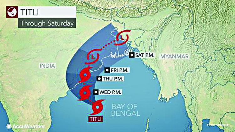 Cyclone Titli intensifies