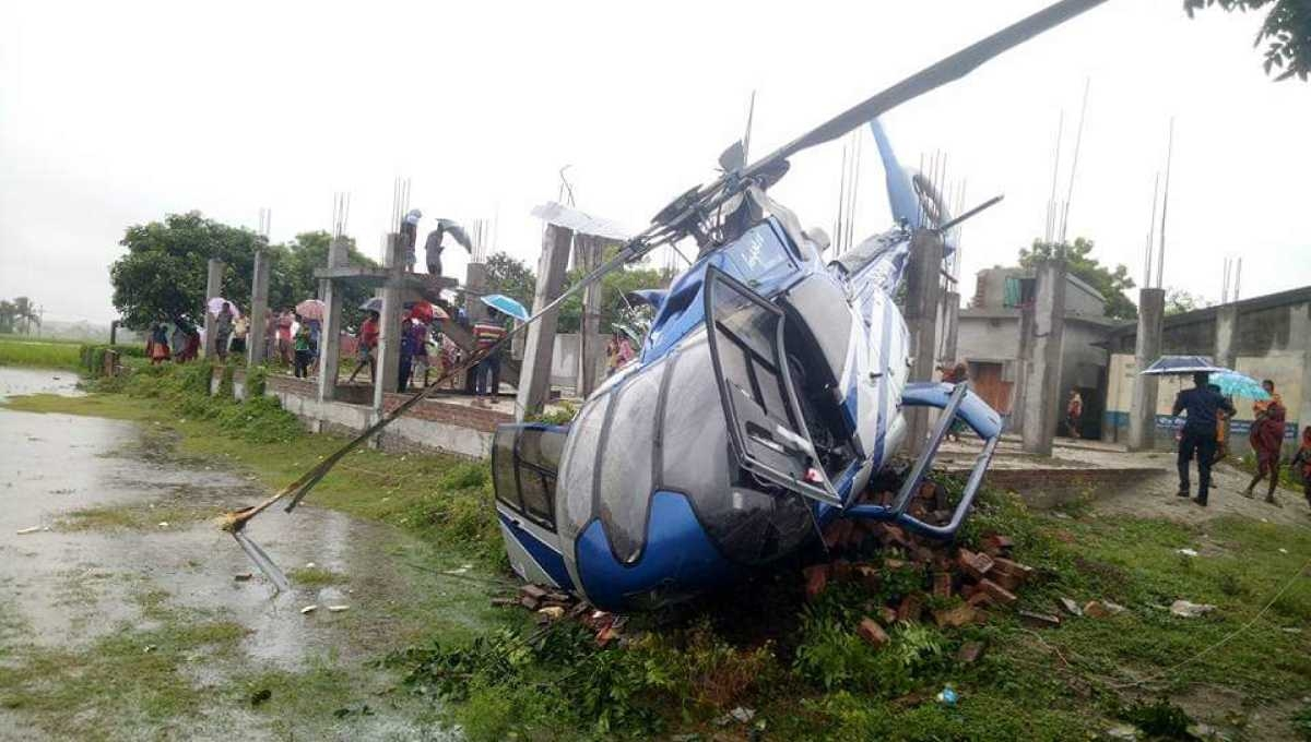Helicopter crashes in Rajshahi; Faridur Reza, 5 others escape unhurt