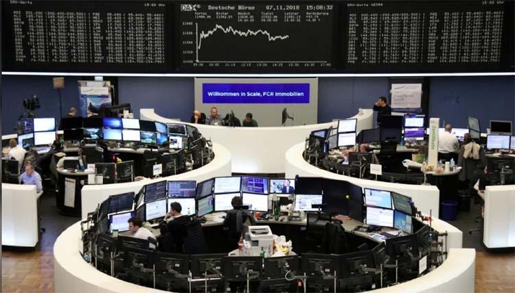 World stocks notch up