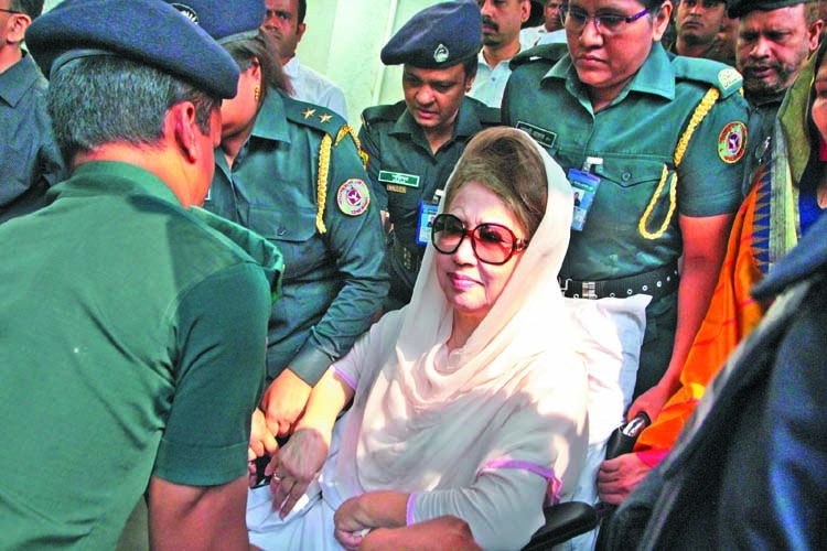 Khaleda's shifting to jail illegal: BNP