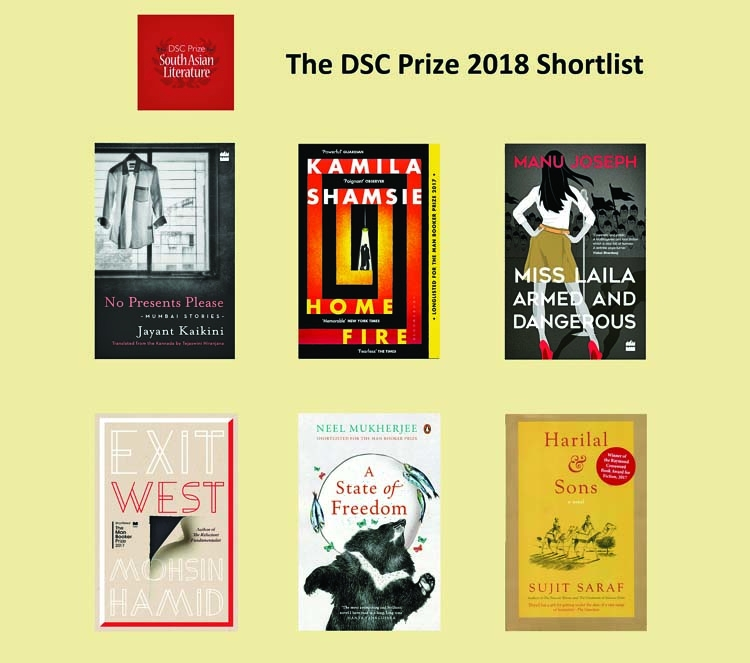 The six books shortlisted for the DSC prize