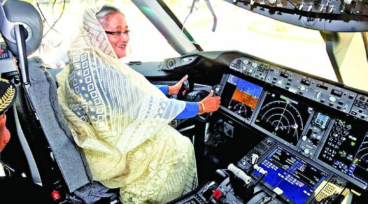 PM inspects Hangsabalakaat Shahjalal Airport