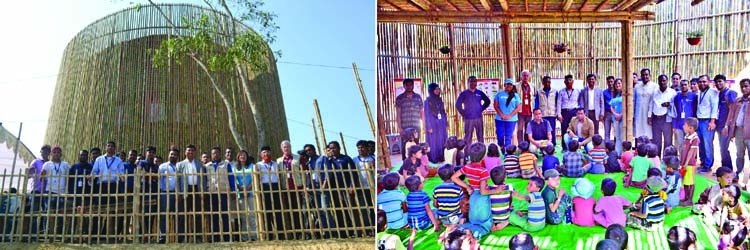 Eye catching learning center  for Rohingya Children