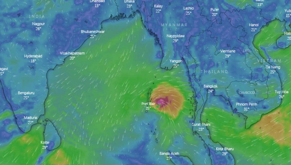 Cyclone 'Pabuk' weakened into deep depression over Andaman Sea