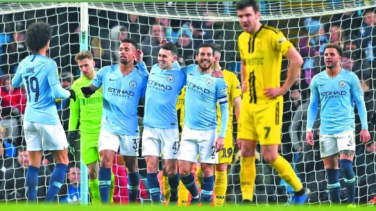 City crush Burton 9-0 in League Cup semis