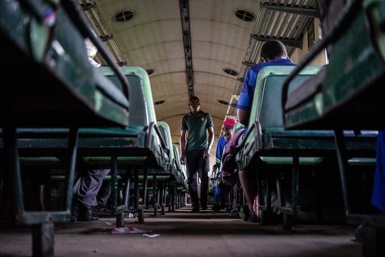 Zimbabwe's only commuter train is packed