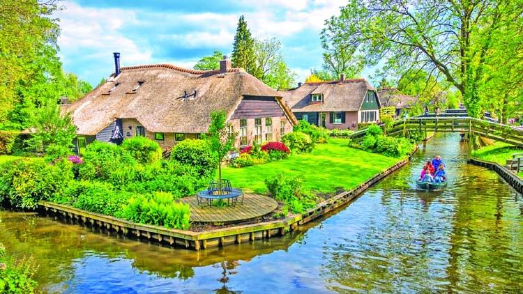 Visit the charming Dutch village where cars aren't allowed