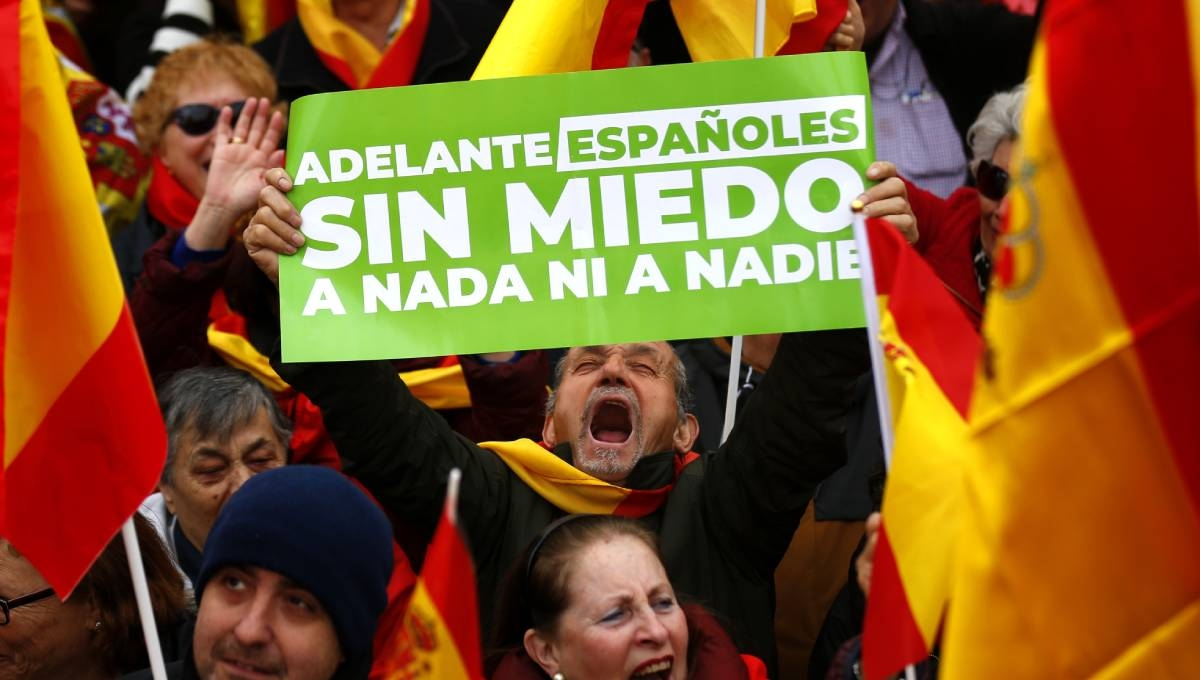 Thousands join right-wing rally in Madrid, demand PM resign