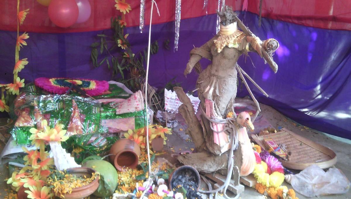 Saraswati idol vandalised in Narayanganj: 4 arrested