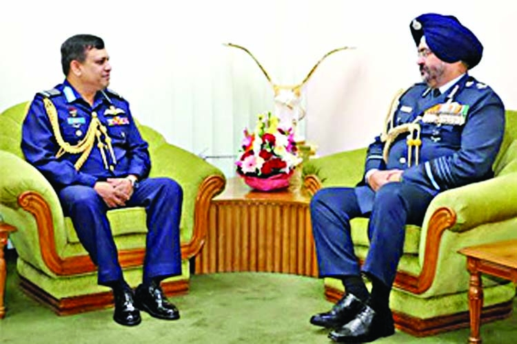 Indian Air chief calls on BAF chief