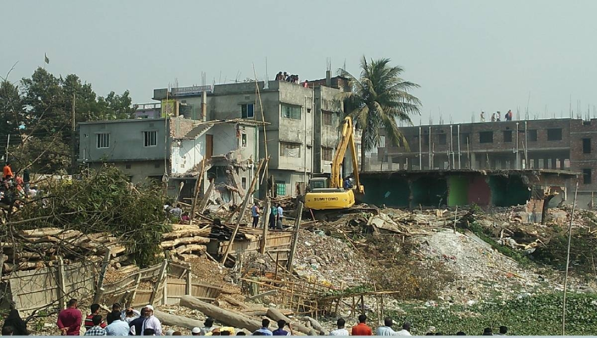 3rd phase of eviction drive along Buriganga begins