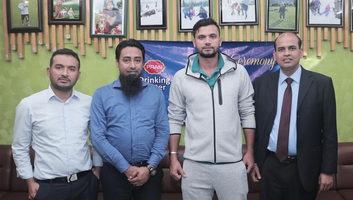 Mashrafe made Pran Drinking Water brand ambassador for 3rd time