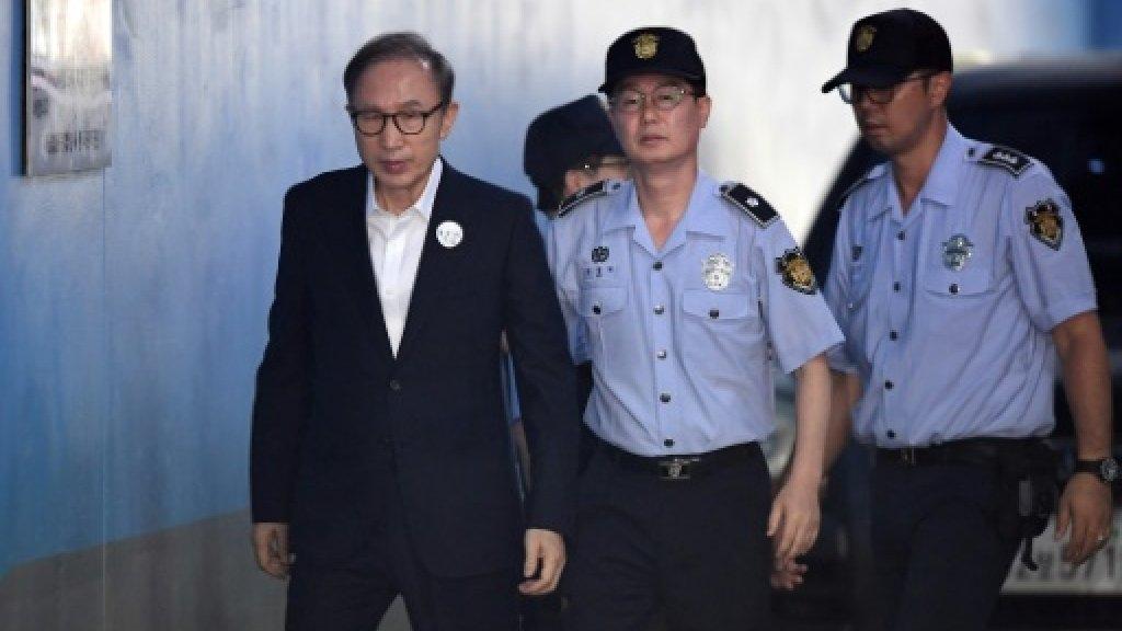 S.Korea's ex-president Lee granted bail in bribery case