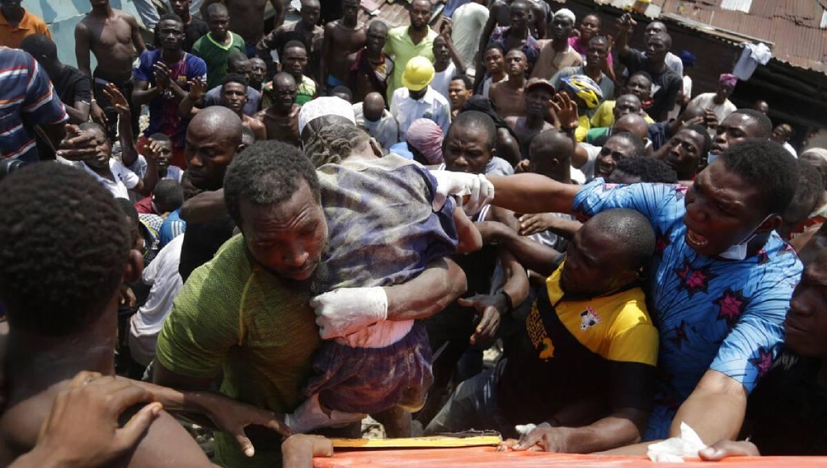 Dozens trapped in Nigeria school collapse, at least 8 dead