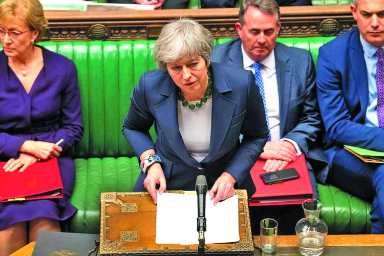 UK parliament to vote on Brexit delay, May seeks to revive deal