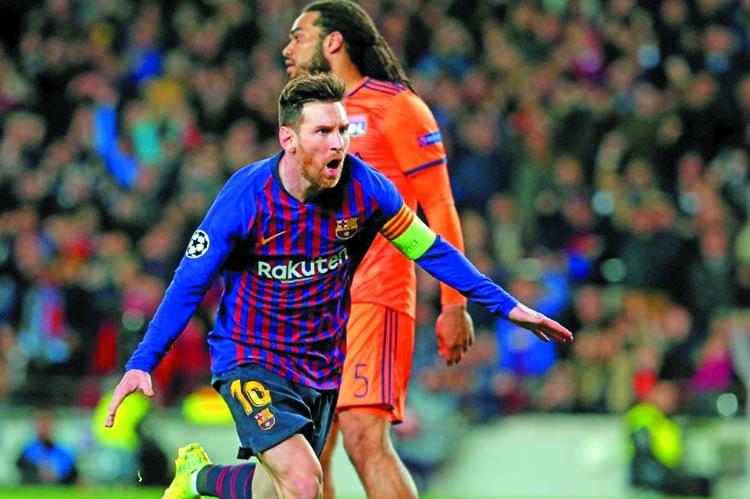 Barca secure Champions League quarters