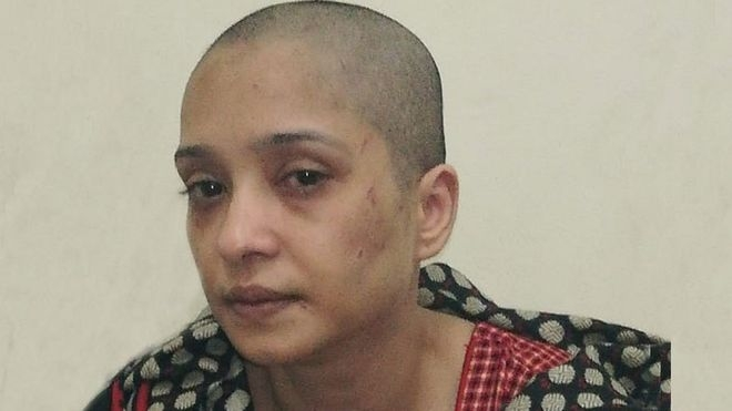 Pakistan Asma Aziz: Wife who had 'head shaved for refusing to dance'