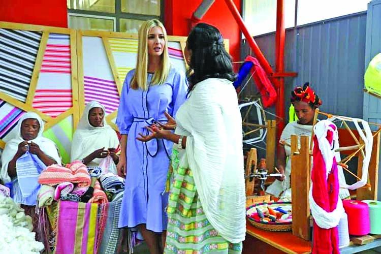 Ivanka Trump promotes women's empowerment in Ethiopia